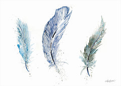 AB113 - Shades of Blue Feathers - 18x12