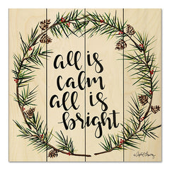 AC104PAL - All is Calm Pinecone Wreath