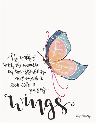 April Chavez AC137 - AC137 - Wings - 12x16 Signs, Typography, Butterfly, Inspirational, Feminine from Penny Lane