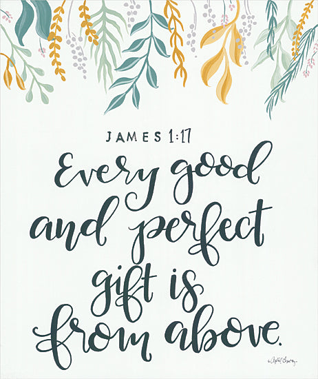 April Chavez AC158 - AC158 - Every Good and Perfect Gift    - 12x16 Signs, Typography, James 1:17, Bible, Greenery from Penny Lane