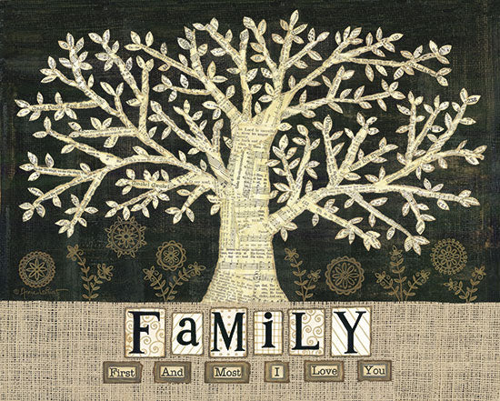 Annie LaPoint ALP1073 - Family - First and Most - Tree, Burlap, Sheet Music, Flowers from Penny Lane Publishing