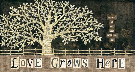 Annie LaPoint ALP1139 - Love Grows Here - Tree, Burlap, Sheet Music, Flowers, Fence from Penny Lane Publishing