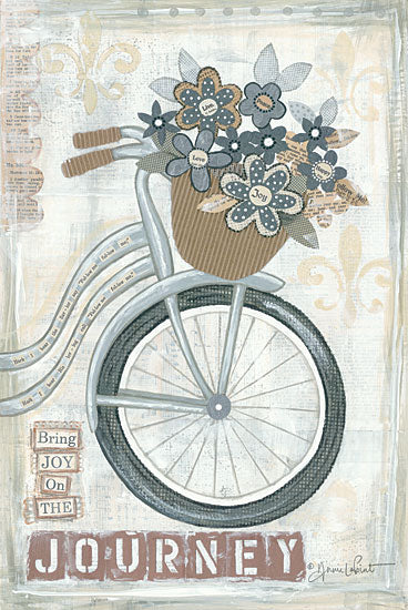 Annie LaPoint ALP1165 - Journey - Bicycle, Basket, Flowers, Journey, Inspiring from Penny Lane Publishing