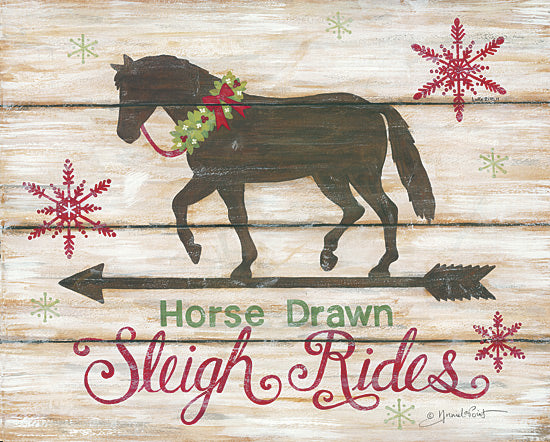 Annie LaPoint ALP1397 - Horse Drawn Sleigh Ride - Horse, Weathervane, Holiday, Winter, Sleigh Rides, Arrow from Penny Lane Publishing