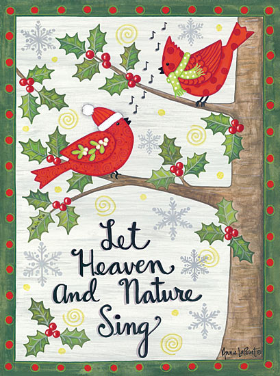 Annie LaPoint ALP1594 - Cardinal Joy - Cardinal, Holiday, Holly, Berries from Penny Lane Publishing