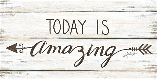 Annie LaPoint ALP1597 - Today is Amazing - Today, Arrow, Wood Plank, Signs, Sepia from Penny Lane Publishing