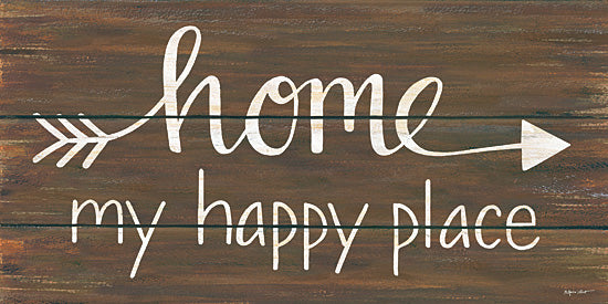 Annie LaPoint ALP1611 - Home - My Happy Place - Signs, Calligraphy, Arrow, Home from Penny Lane Publishing