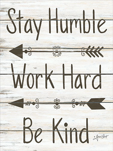 Annie LaPoint ALP1613 - Stay Humble - Work Hard - Be Kind - Arrow, Motivating, Signs from Penny Lane Publishing