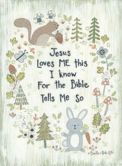 ALP1982 - Jesus Loves Me - Woodland - 12x16