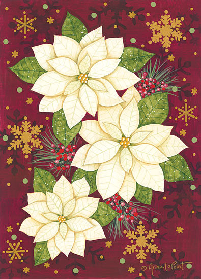 Annie LaPoint ALP1996 - ALP1996 - Golden Poinsettia - 12x16 Holidays, Christmas, Poinsettias, Flowers, Christmas Flowers from Penny Lane
