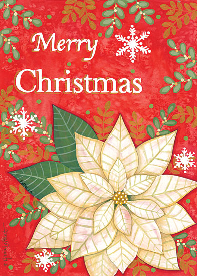Annie LaPoint ALP1997 - ALP1997 - Merry Christmas Poinsettia - 12x16 Holidays, Christmas, Poinsettias, Flowers, Christmas Flowers from Penny Lane