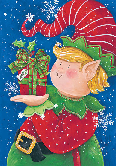 Diane Kater ART1039 - Jolly Elf - Elf, Holiday, Presents, Snow Flakes, Stocking Cap from Penny Lane Publishing