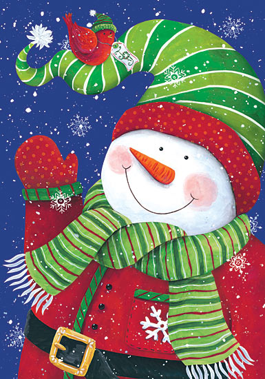 Diane Kater ART1040 - Jolly Snowman I - Snowman, Stocking Cap, Cardinals, Sweater from Penny Lane Publishing