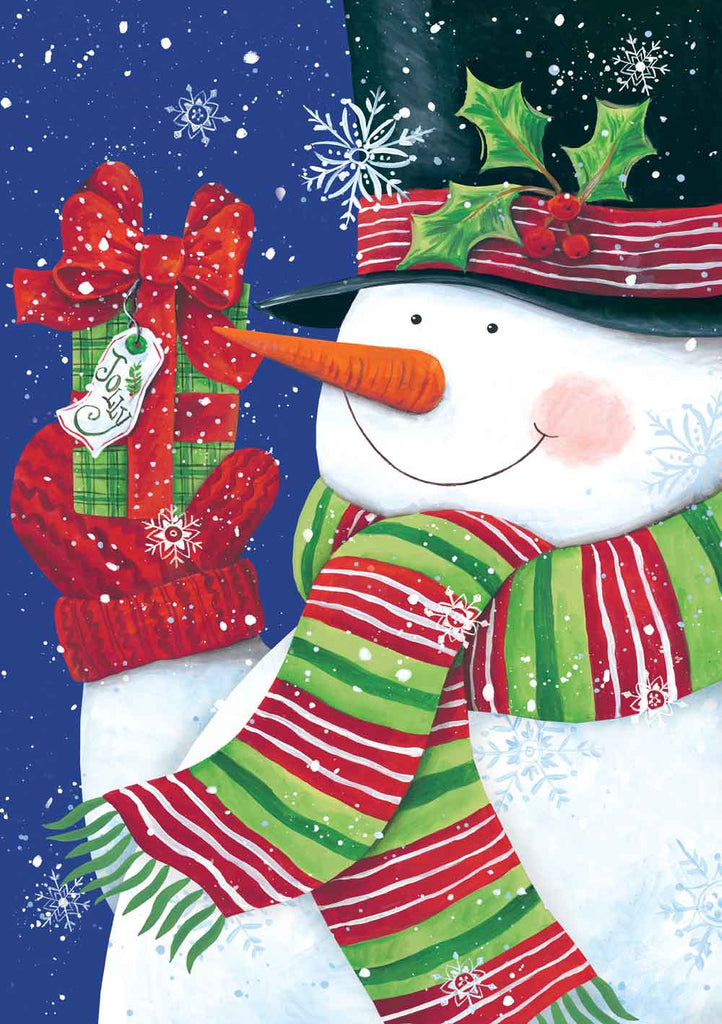 Diane Kater ART1043 - Jolly Snowman II - Showman, Holiday, Presents, Top Hat, Holly from Penny Lane Publishing