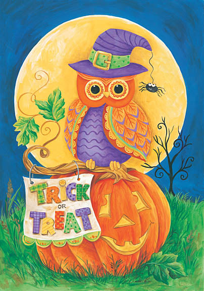 Diane Kater ART1061 - Trick or Treat Owl - Halloween, Owl, Pumpkin, Trick or Treat, Moon from Penny Lane Publishing