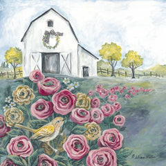ART1132 - Pink Flower Field - 12x12
