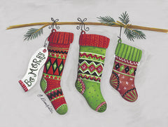 ART1193 - Be Merry Stockings  - 16x12