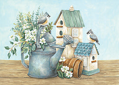 ART1201 - Watering Can and Chickadees - 18x12