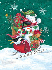 ART1239 - Christmas Friends Sleigh - 12x16