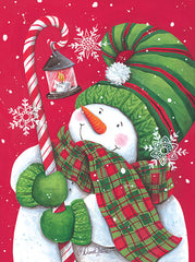 ART1254 - Snowman with Candy Cane Light - 12x16