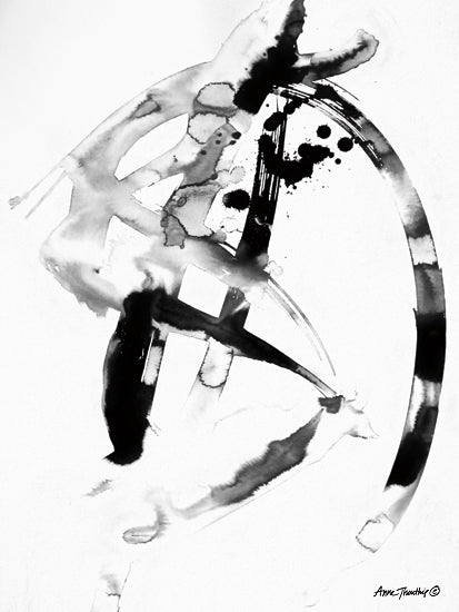 Ann Thouthip AT105 - AT105 - Ink Dance    - 12x16 Ink, Abstract, Modern, Contemporary, Black & White from Penny Lane