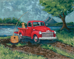 BAKE120 - Red Truck Fishing Buddy - 16x12
