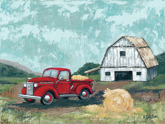 BAKE121 - Red Truck at the Barn - 16x12