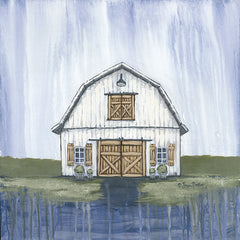 BAKE136 - White Garden Barn - 12x12