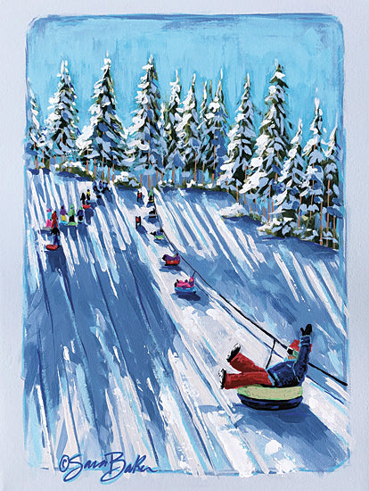 Sara Baker BAKE181 - BAKE181 - Follow Me  keep in-house size - 12x16 Tubing, Mountain, Winter, Trees, Snow from Penny Lane