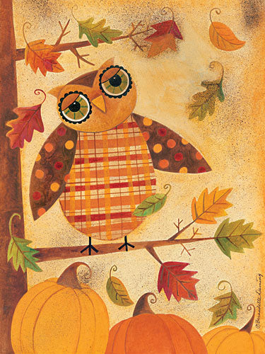 Bernadette Deming BER1214 - Fall Wise Owl - Owl, Autumn, Tree, Leaves from Penny Lane Publishing