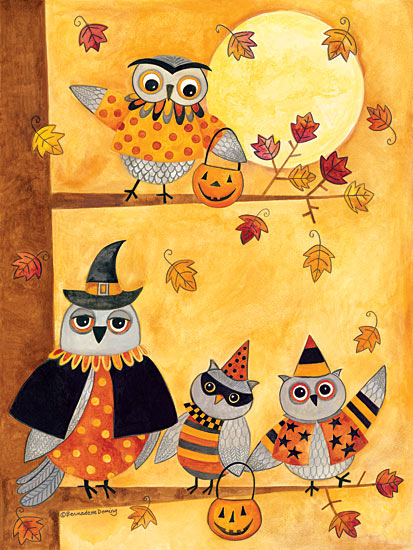 Bernadette Deming BER1220 - Trick or Treat Owls - Owls, Tree, Moon, Autumn, Pumpkins, Trick or Treat from Penny Lane Publishing