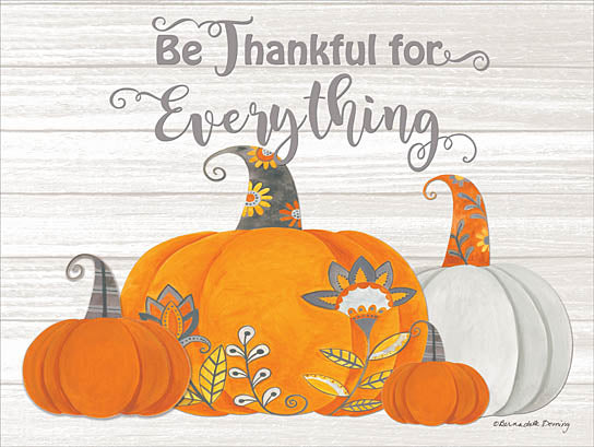 Bernadette Deming BER1229 - Be Thankful for Everything - Pumpkins, Patterns, Autumn, Harvest, Thankful from Penny Lane Publishing