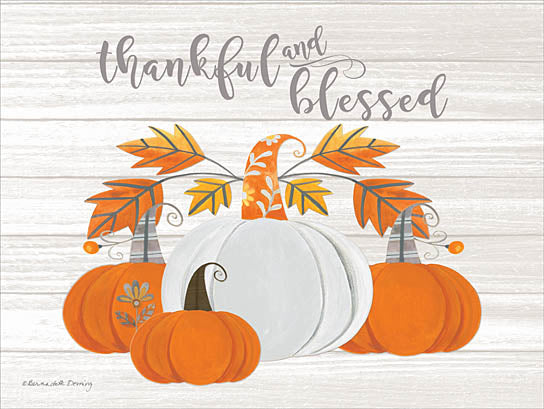 Bernadette Deming BER1230 - Thankful and Blessed - Pumpkins, Autumn, Harvest, Thankful from Penny Lane Publishing