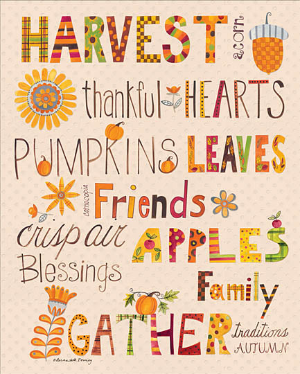 Bernadette Deming BER1234 - Fall Favorites - Harvest, Autumn, Lettering, Pumpkins from Penny Lane Publishing