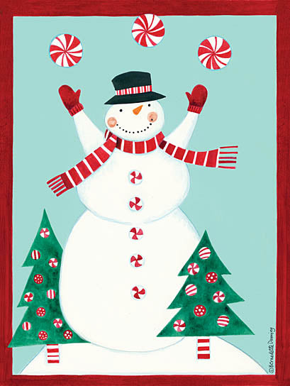 Bernadette Deming BER1251 - Candy Snowman - Snowman, Candy, Trees, Snow from Penny Lane Publishing