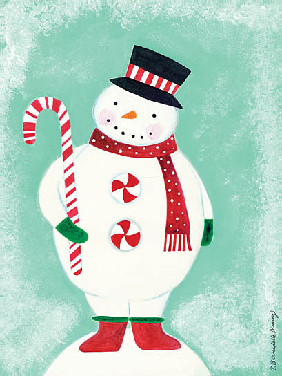 Bernadette Deming BER1252 - Candy Button Snowman - Snowman, Candy, Snow, Candy Cane from Penny Lane Publishing
