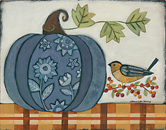 BER1399 - Blue Patterned Pumpkin - 16x12