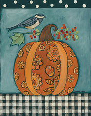 BER1400 - Patterned Pumpkin and Bird - 12x16