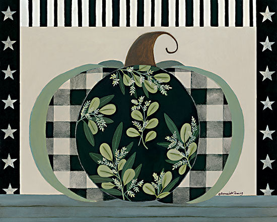 Bernadette Deming BER1402 - BER1402 - Patterned Greenery Pumpkin - 16x12 Pumpkin, Patterned Pumpkin, Greenery, Autumn, Decorative from Penny Lane