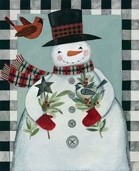 BER1405 - Holly Snowman and Birds - 12x16