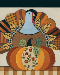 BER1413 - Turkey and Patterned Pumpkin - 12x16