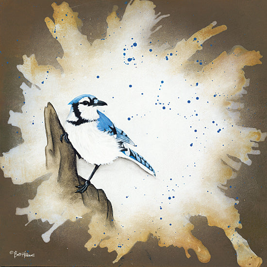 Britt Hallowell BHAR434 - Weathered Friends - Blue Jay - Animals, Bird, Blue Jay, Wildlife from Penny Lane Publishing