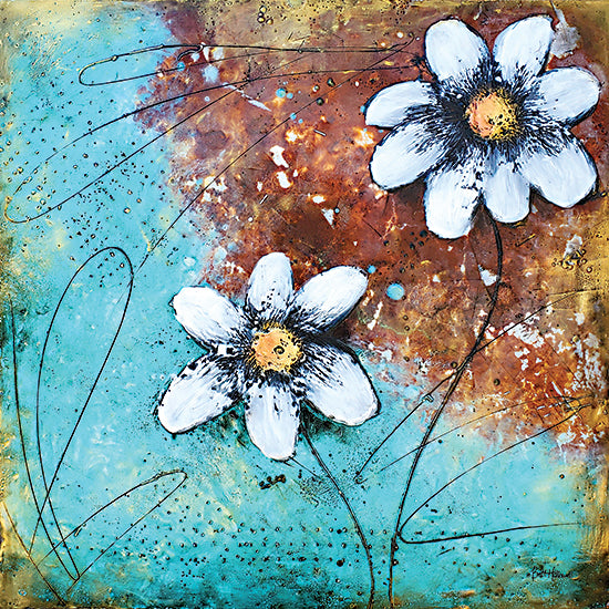 Britt Hallowell BHAR531 - BHAR531 - Custom Balance II - 12x12 Abstract, Flowers, White Flowers, Contemporary from Penny Lane