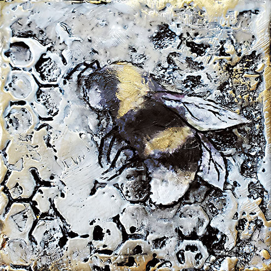 Britt Hallowell BHAR543 - BHAR543 - Worker Bees II - 12x12 Bees, Worker Bees, Honeycomb, Hive, Abstract from Penny Lane