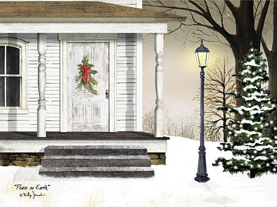 Billy Jacobs BJ1001 - Peace on Earth - Holiday, Lamp Post, Wreath, Front Porch, Snow from Penny Lane Publishing