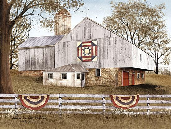 Billy Jacobs BJ1020 - American Star Quilt Block Barn - American Flag, Swags, USA, Barn, Quilt, Farm from Penny Lane Publishing