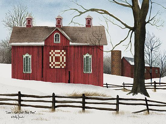 Billy Jacobs BJ1021B - Lover's Knot Quilt Block Barn - Quilt, Barn, Snow, Winter, Fence, Farm from Penny Lane Publishing