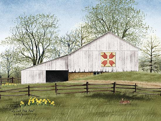 Billy Jacobs BJ1022 - Tulip Quilt Block Barn - Tulip, Quilt, Barn, Countryside, Fence, Trees from Penny Lane Publishing