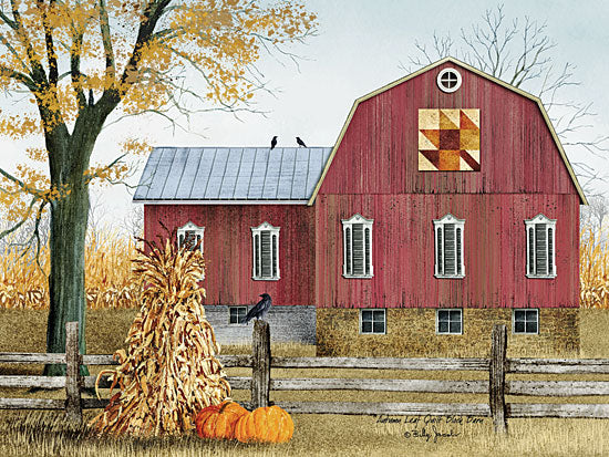 Billy Jacobs BJ1023A - Autumn Leaf Quilt Block Barn - Barn, Harvest, Pumpkins, Haystacks, Quilt, Farm from Penny Lane Publishing
