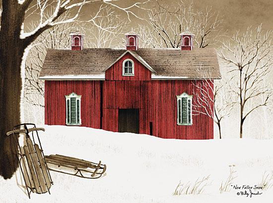 Billy Jacobs BJ1024 - New Fallen Snow - Snow, Sled, Barn, Winter, Farm from Penny Lane Publishing